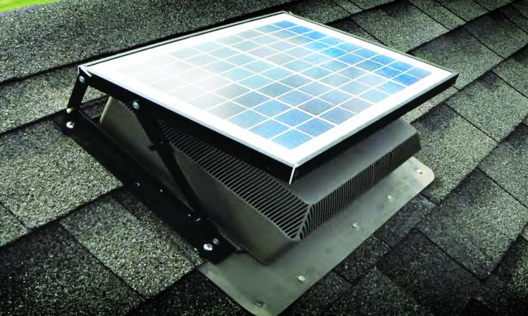 The Solar Attic Fan from International Solar Solutions Inc.